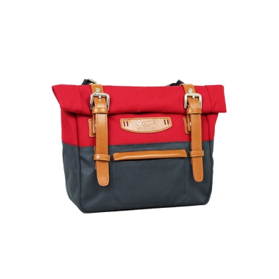 estilo - 時尚玩色系列 撞色設計 小型斜背包 - 亮紅