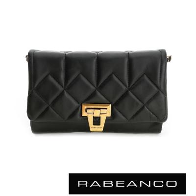 RABEANCO-迷時尚羊皮系列多way雙層晚宴包-黑