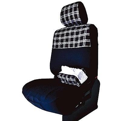 【葵花】量身訂做-汽車椅套-布料-格子萊卡B-轎車款