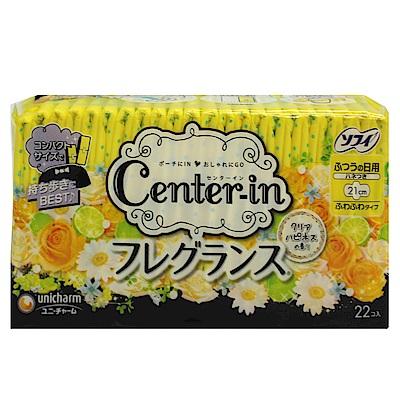 日本CENTER-IN 乾爽幸福花香羽翼21cm日用(22枚入)/包