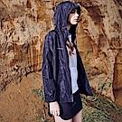 CACO-品牌黑迷彩風衣-情侶款-女【PNC027】