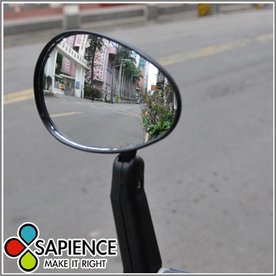 【SAPIENCE】12cm大鏡面自行車廣角後照鏡(1入)