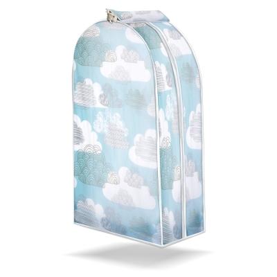清新印花-衣服立體防塵罩(2入組)
