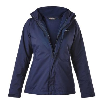 【Berghaus貝豪斯】女款AQ2二件式刷毛外套H22FQ5-藍