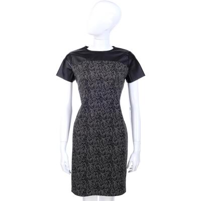 Michael Kors 黑色拼接圓領短袖洋裝