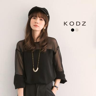 東京著衣-KODZ 微性感鏤空長袖上衣聯名款-S.M.L(共二色)