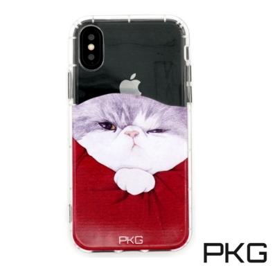 PKG Apple IPhone X 彩繪空壓氣囊保護殼浮雕彩繪-霸王貓