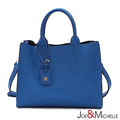 J&M 真皮奧莉雅極簡吊飾包 希臘藍