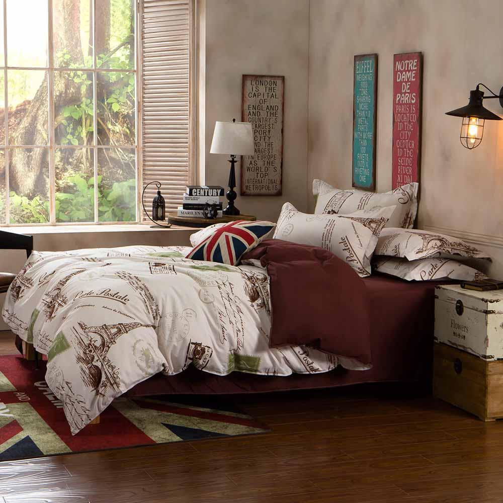 Ania Casa    台灣製 超厚美肌磨毛 - 加大床包被套四件組- 艾菲爾