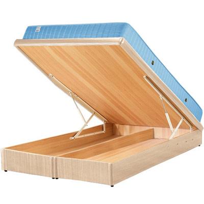Homelike 麗緻5尺掀床+獨立筒床墊-雙人掀床(四色可選)