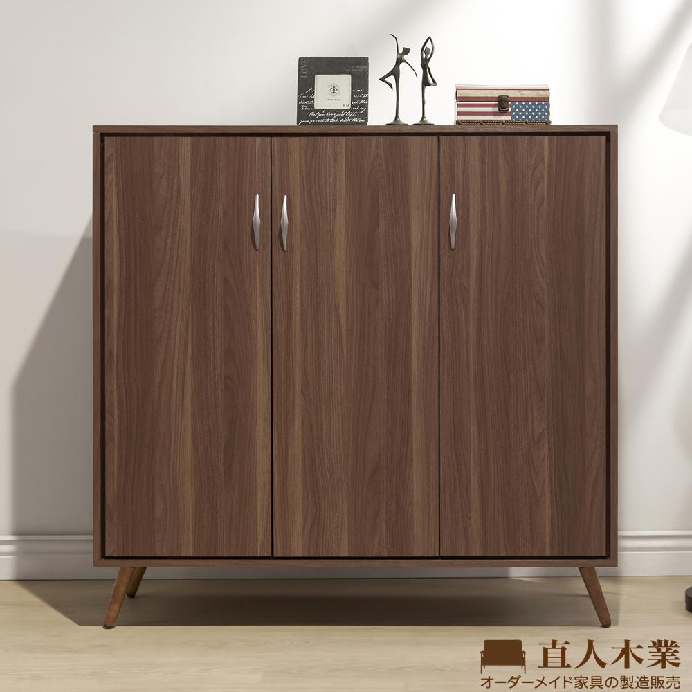 日本直人木業-ITALY淺胡桃121CM鞋櫃(121x40.2x119.5cm)