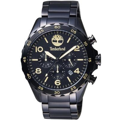 Timberland天柏嵐 Brenton 二地時區手錶-鍍黑/46mm