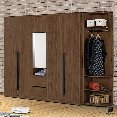 漢妮Hampton莫特系列8.2尺組合衣櫥-246x58x197cm