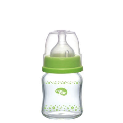 nac nac 吸吮力學寬口耐熱玻璃奶瓶120ml(2入)