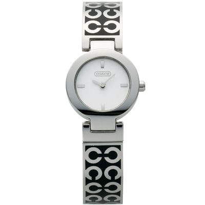 COACH Mercer 普普風華時尚手環腕錶-琺瑯/黑/25mm