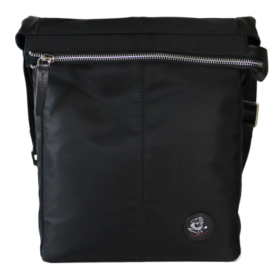 Sina Cova 老船長牛皮提花側背包-質感黑(SC61602)