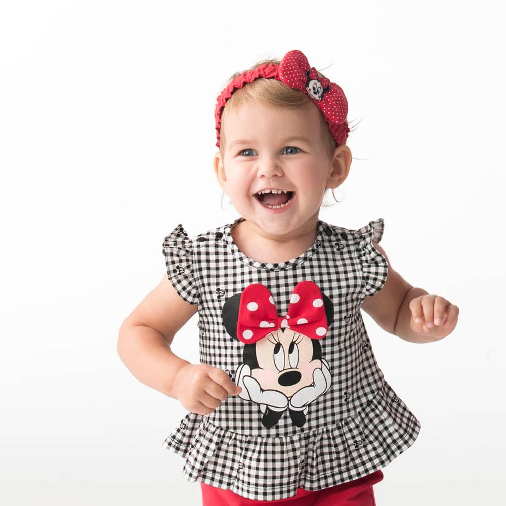 Disney baby 米妮系列俏皮甜心格子上衣 (2色可選)