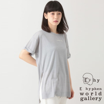 E hyphen world gallery 短袖圓領刺繡字母T恤