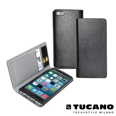 TUCANO iPhone6 Plus (5.5吋) 皮革壓紋多功能側掀皮套