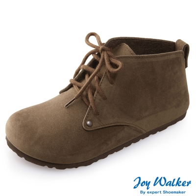 Joy Walker 高筒拼接綁帶包鞋*咖啡