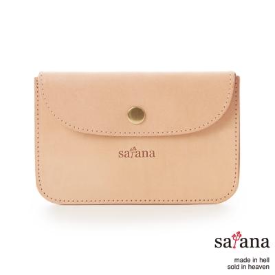 satana-低調玩皮-真皮卡片夾-零錢包-原皮色