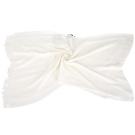 FENDI 雙F織紋流蘇披肩(白色)