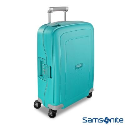 Samsonite新秀麗-20吋S-39-CURE四輪PP硬殼TSA扣鎖行李箱-水藍