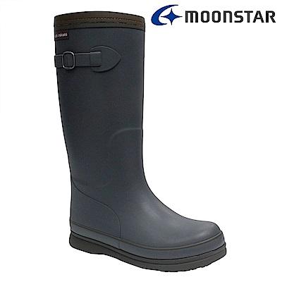 Moonstar日本 女 長筒保暖雨靴 (灰)