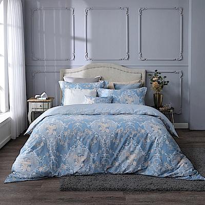BBL絲綢玫瑰100%精梳棉.印花特大兩用被床包組