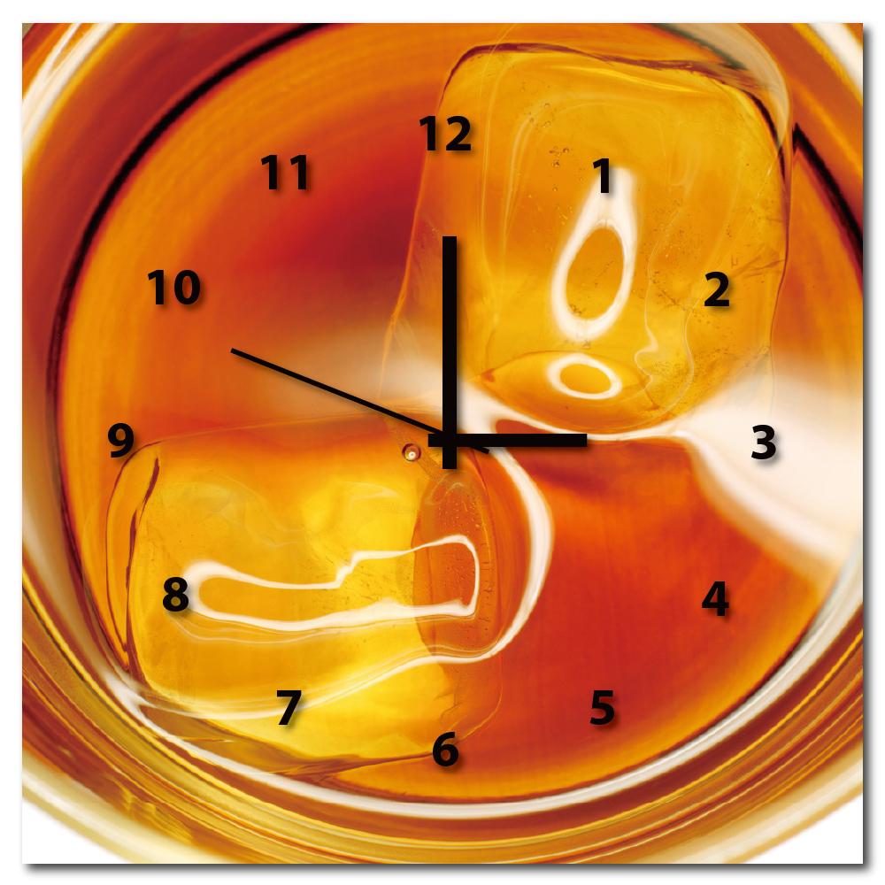 24mama掛畫-單聯方形餐廳酒杯飲料店掛飾時鐘無框畫掛畫-酒杯-50x50cm