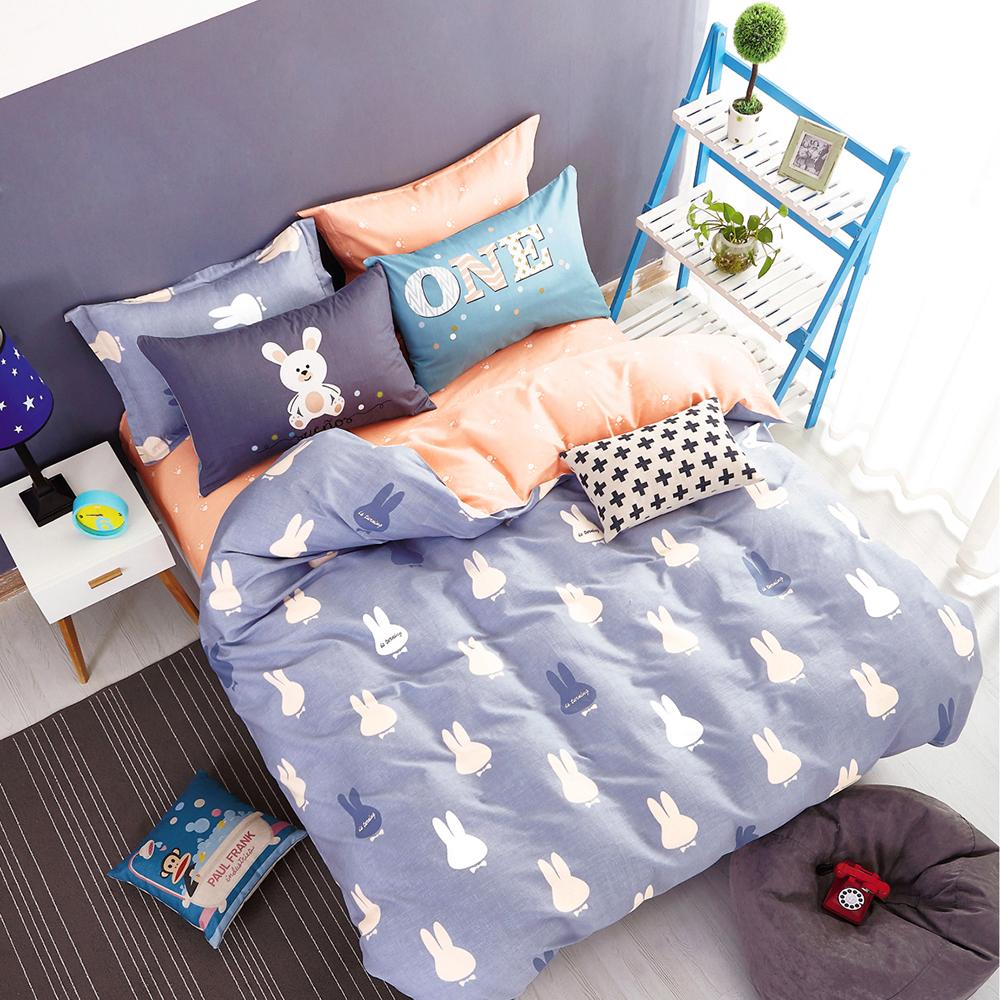 Ania Casa 台灣製 100%純棉 - 加大床包枕套三件組 - 彼得兔