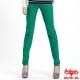 【BOBSON】女款多彩色彈性小直筒褲(綠41) product thumbnail 1