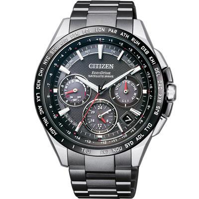星辰 CITIZEN 光動能 鈦感光衛星計時腕錶 CC9015-62E