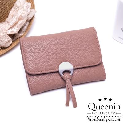 DF Queenin皮夾 - 日系浪漫物語三折式仿皮中夾-共2色