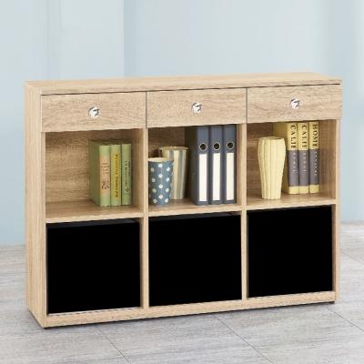 AS-愛寶耐磨橡木4尺原木色多功能置物櫃