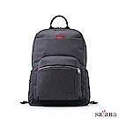 satana - Fresh 輕職人電腦後背包 - 麻花黑