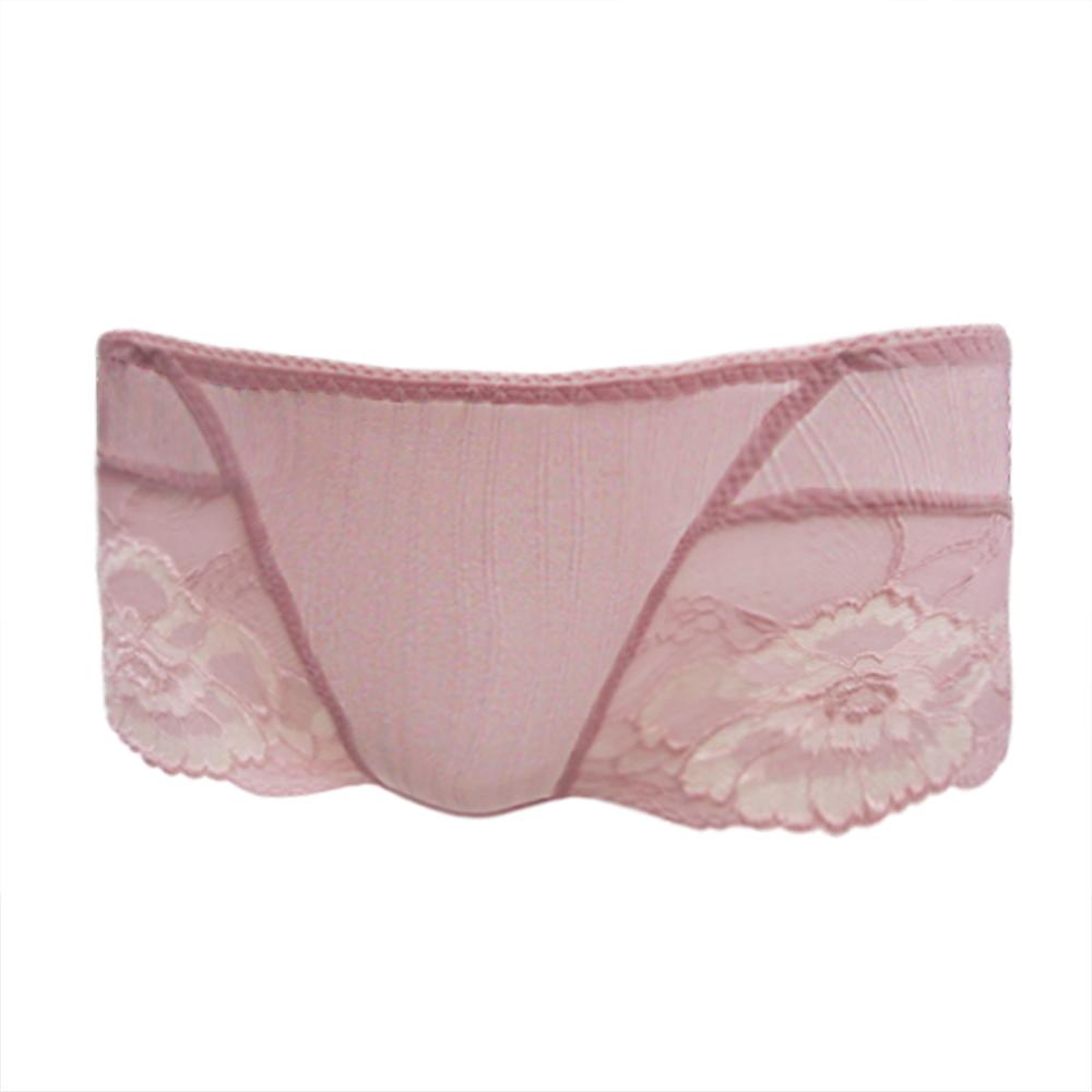 【曼黛瑪璉】親輕Bra  低腰平口蕾絲褲(玫瑰粉)