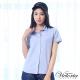 Victoria 素面配細條基本短袖襯衫-女-淺藍 product thumbnail 1