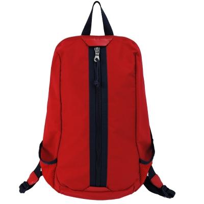 agnes b.拉鍊設計撞色尼龍後背包(紅)