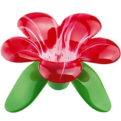 KOZIOL Audrey附座花朵濾茶器(紅白)