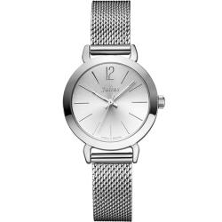 JULIUS聚利時 午後紐約米蘭帶腕錶-銀色/28mm