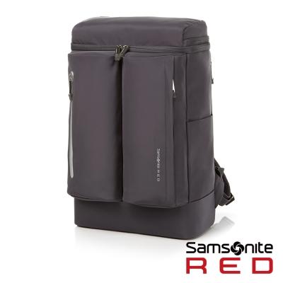 Samsonite RED BOLTTON造型潮流中性休閒筆電後背包-14吋(深灰)