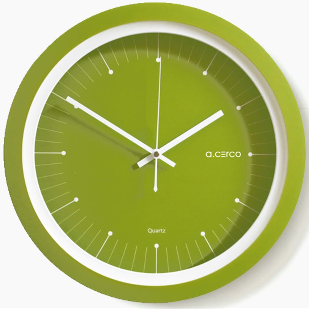 a.cerco LUNA 設計掛鐘-藻綠