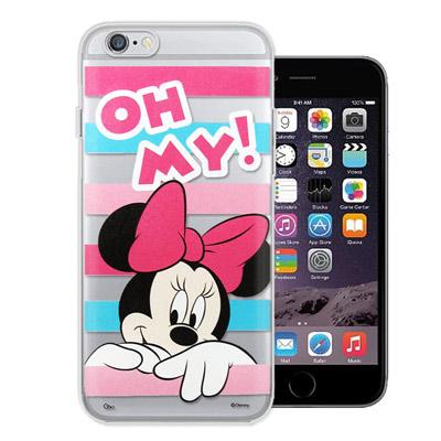 迪士尼 iPhone6s / 6 plus 5.5吋 大頭招呼系列軟式手機殼(米...