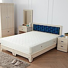 H&D 藍儂田園海洋風6件組(床頭+床底+二抽櫃+衣櫃+鏡台+床墊)