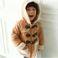 baby童衣 大小童外套 牛角扣保暖連帽外套 50445