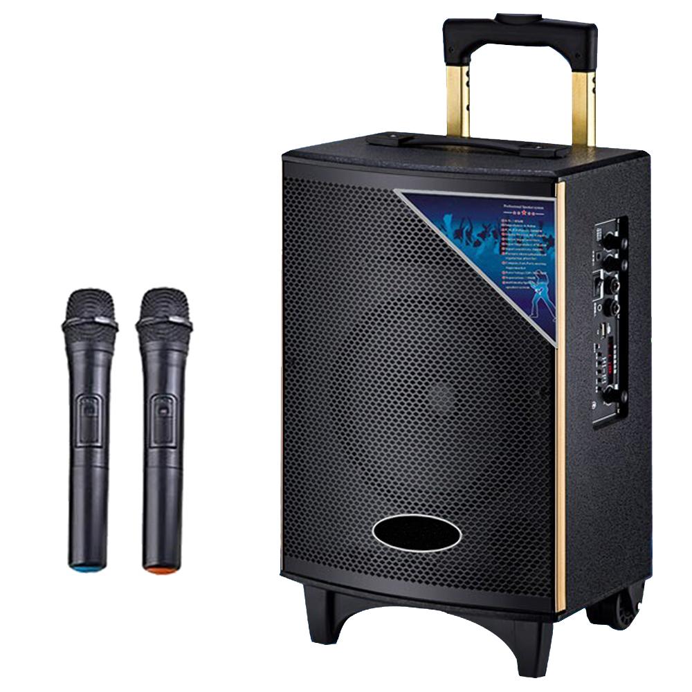 大聲公實雅型無線麥克風多功能行動音箱/喇叭 (雙手持麥克風組)