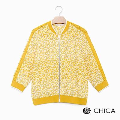 CHICA 花漾年華碎花布勞森設計外套(2色)