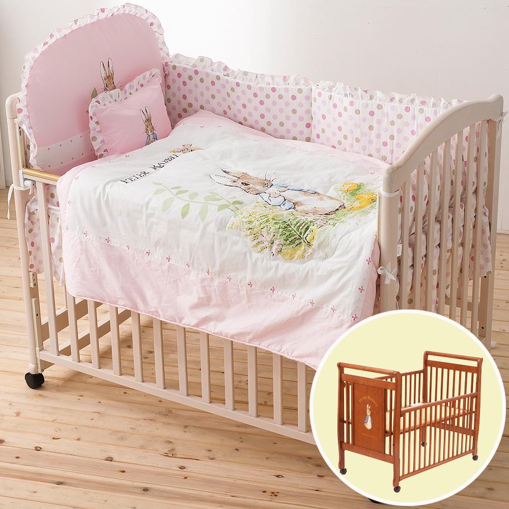 奇哥 比得兔大床 花園比得兔六件床組L-粉紅