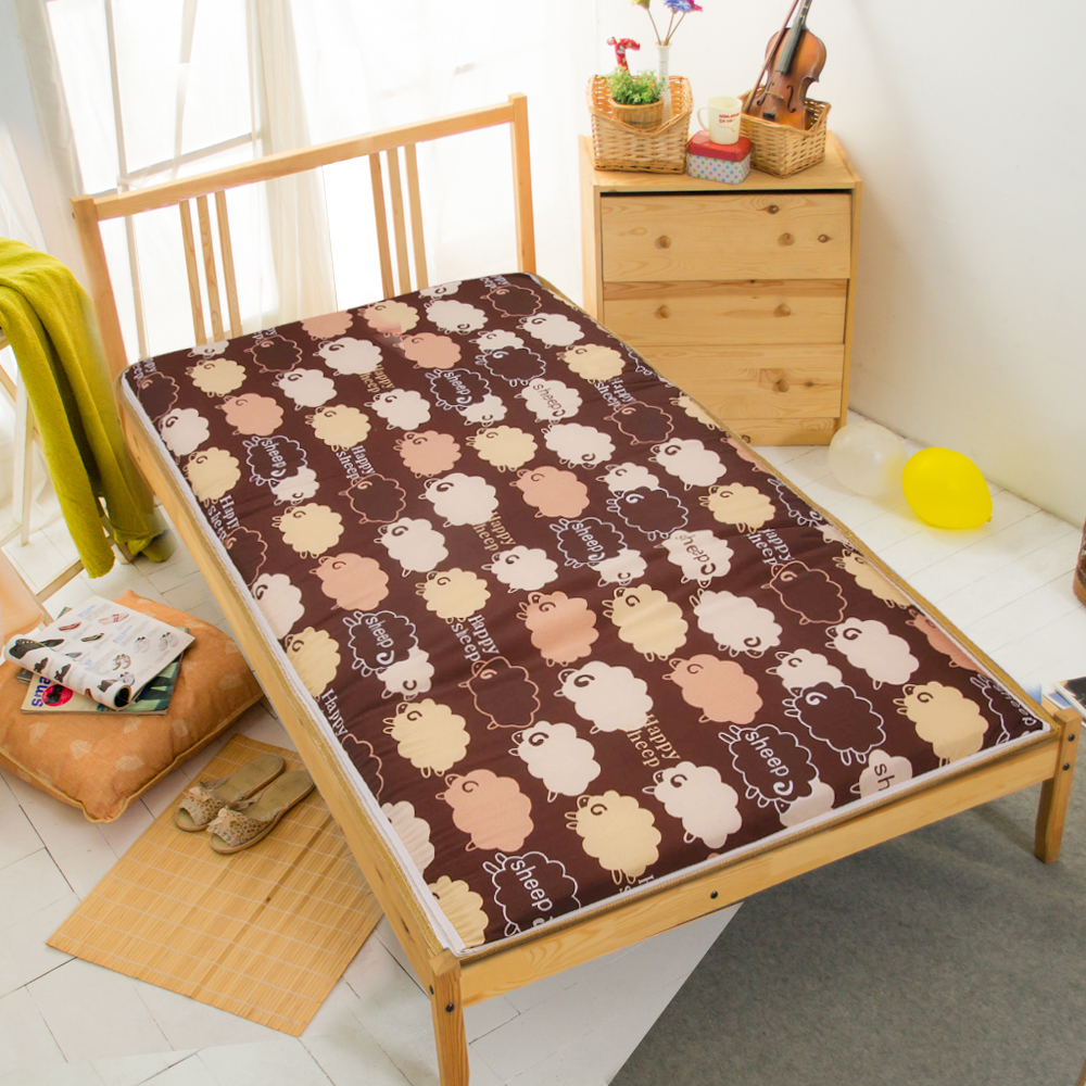 羊羊得意冬夏兩用折疊床墊單人